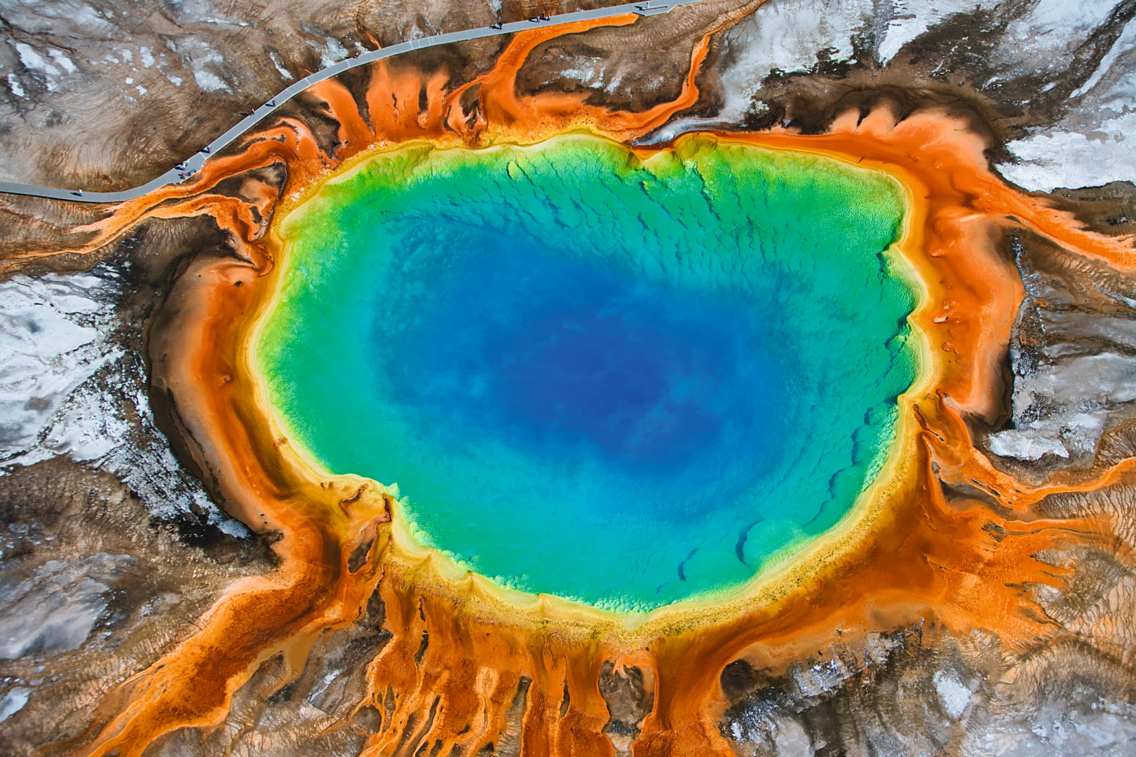 Grand Prismatic Geyser, Yellowstone National Park CLOSER ID 1230576