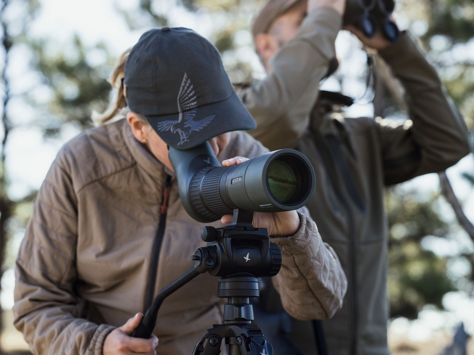 Huntress with ATX 65 spotting scope and CCT compact carbon tripod with CTH tripod head.