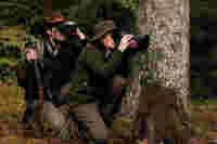 ATS spotting scope hunters in forest ID 372725
