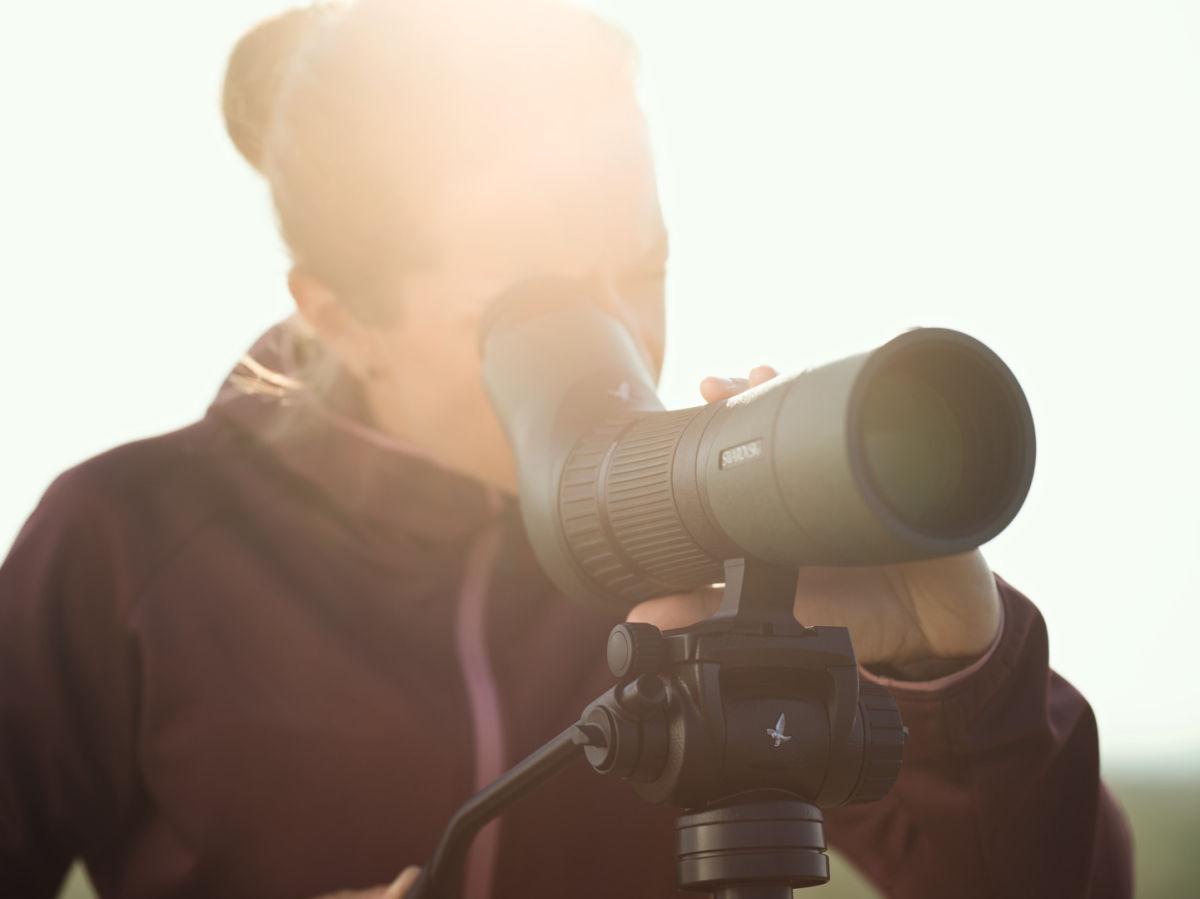 ATX65 woman birding spotting scope CTH ID 1210610