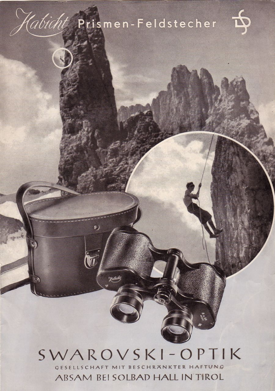 Advertising brochure for the Habicht binocular 1950-1954