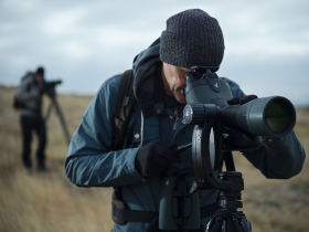 Birding with a BTX 85 spotting scope on a PCT tripod.