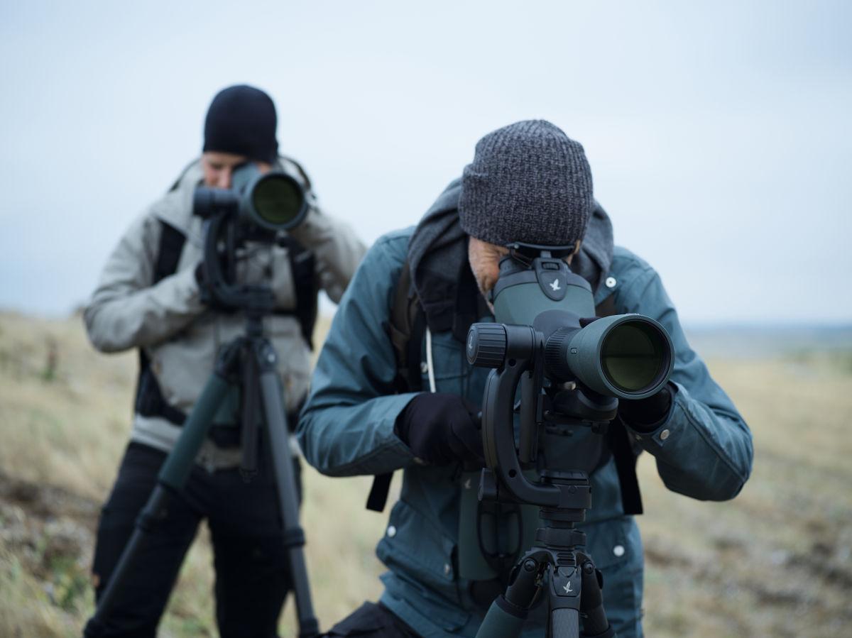 Spotting Scopes Tips Birding SWAROVSKI OPTIK BTX 85, PTH, PCT, ATX 95, EL, two Birders, Titchwell Birding