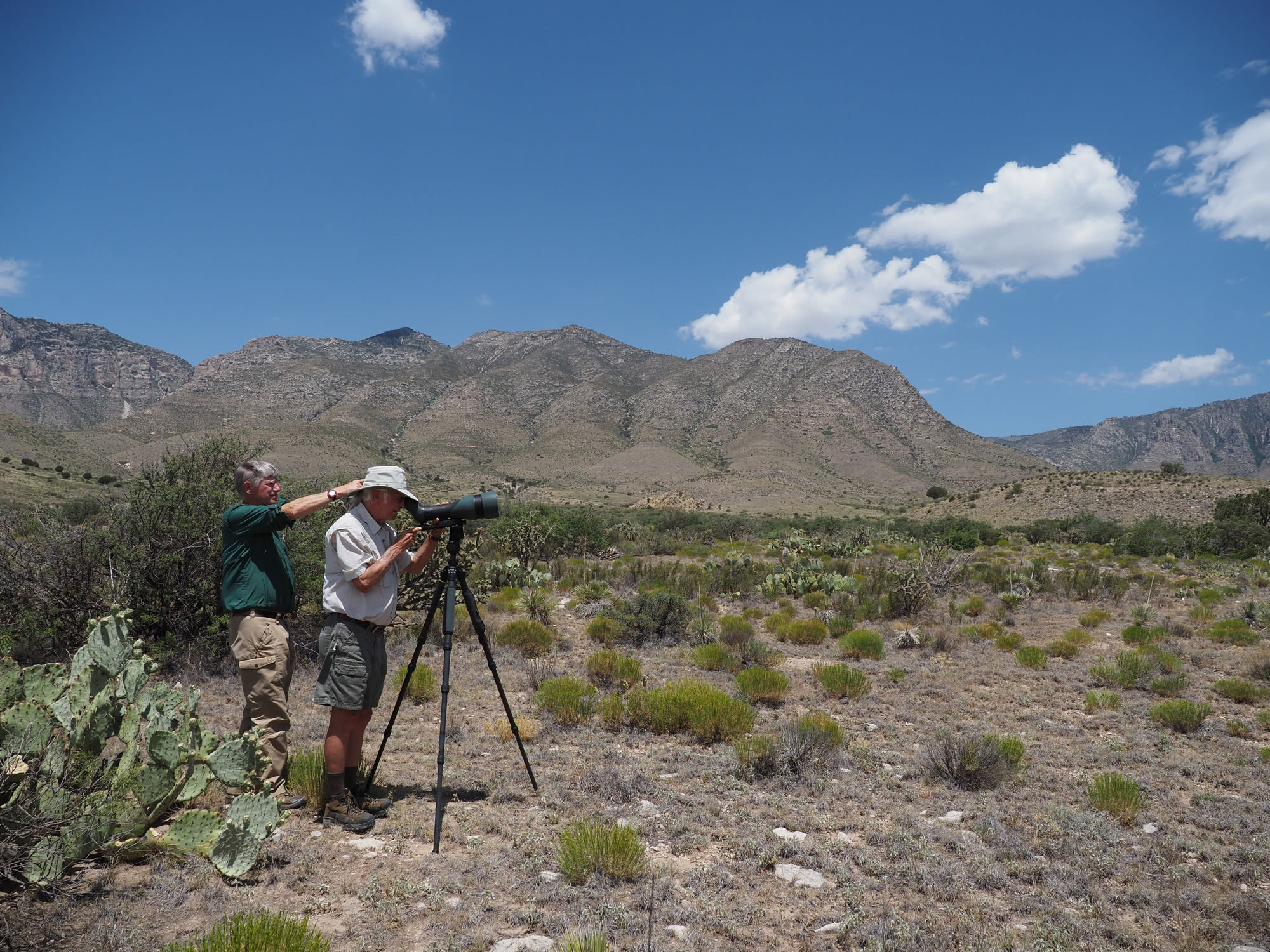 The 115-mm objective module in Texas 2/3 – birding at Guadalupe Mountains National Park - Joel Simon and Clay Taylor