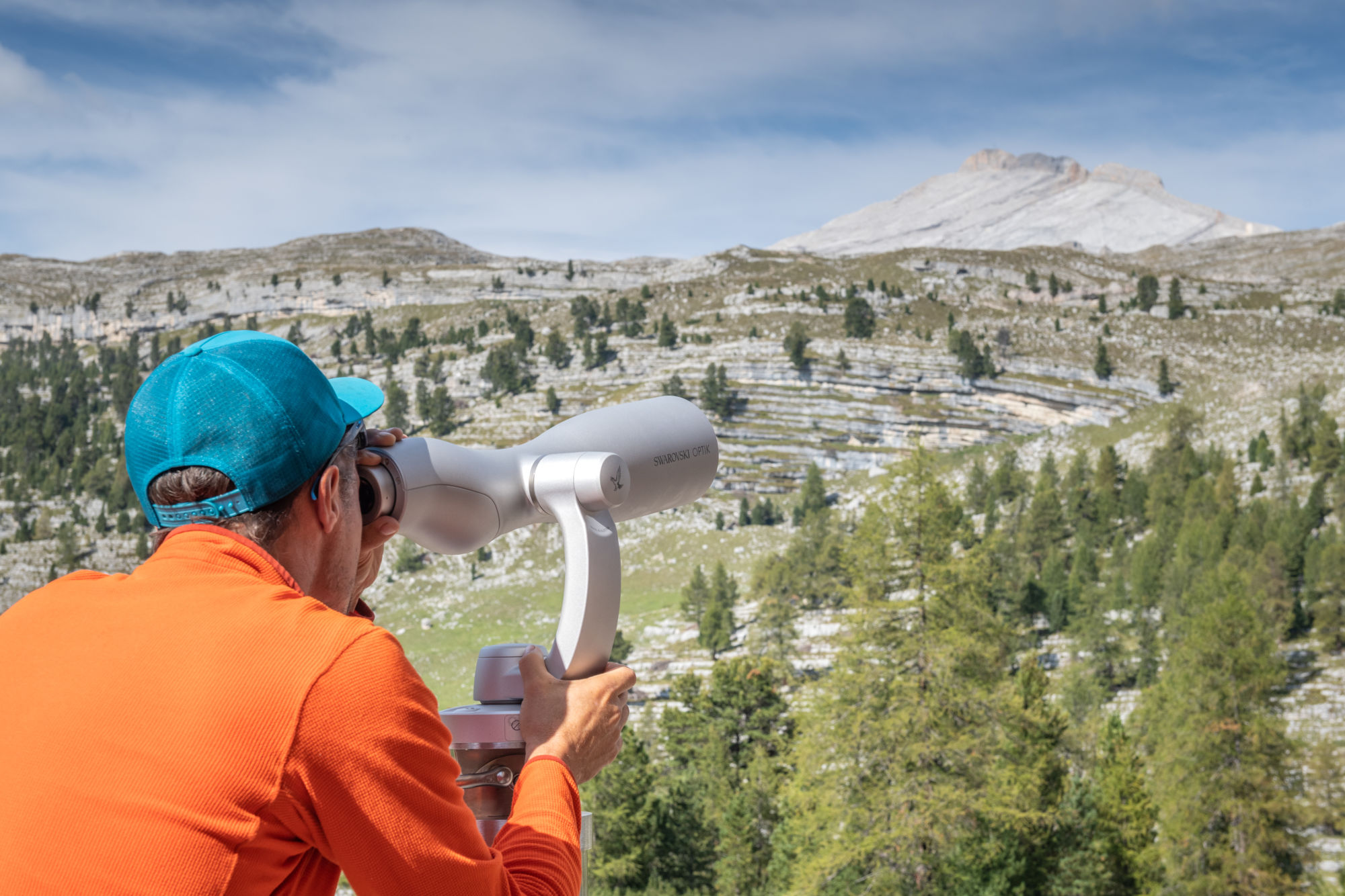 Get closer to the Dolomites with the ST Vista and binoculars at San Vigilio, Italy