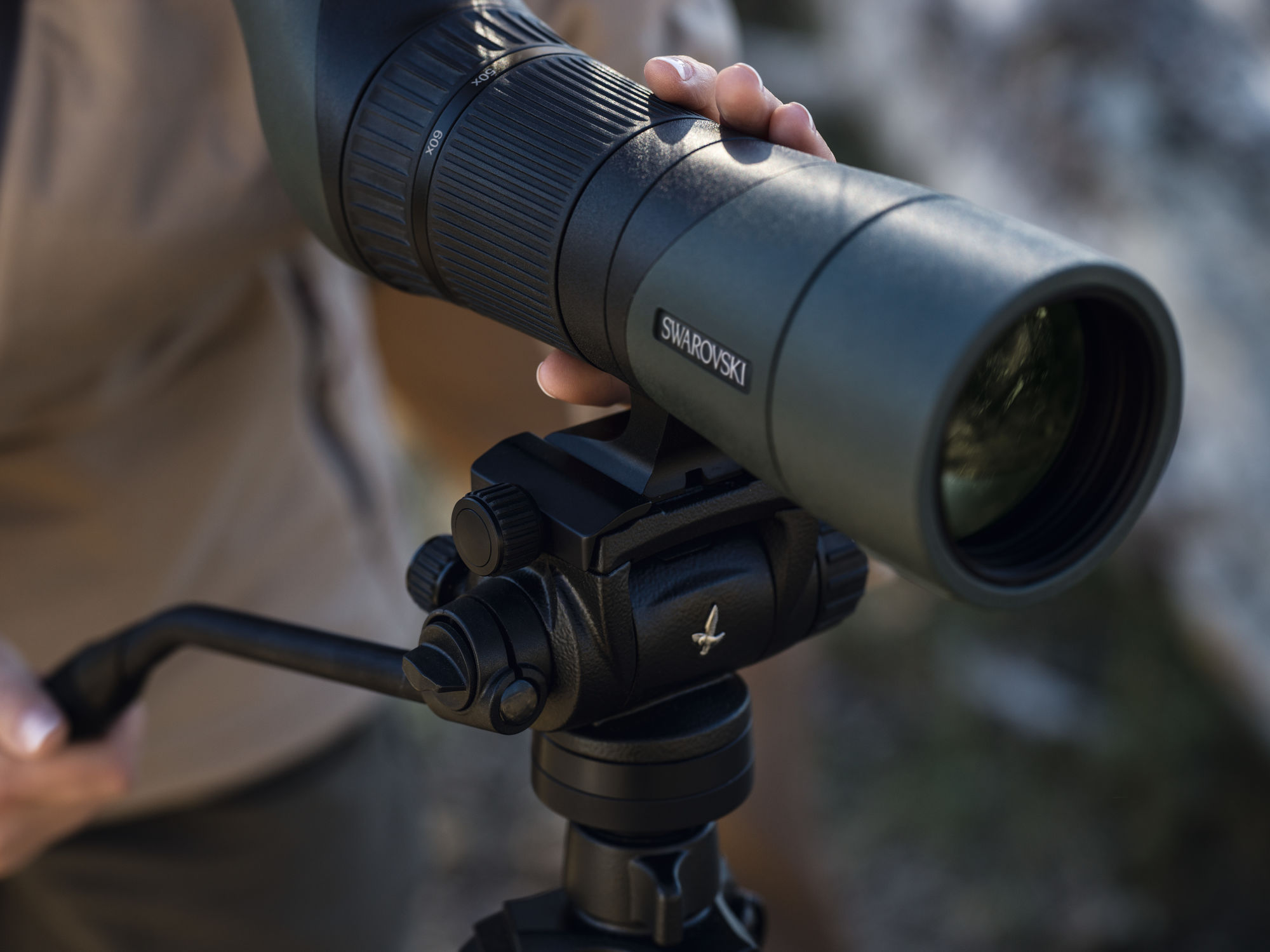 ATX 65 spotting scope with CCT compact carbon tripod and CTH tripod head.