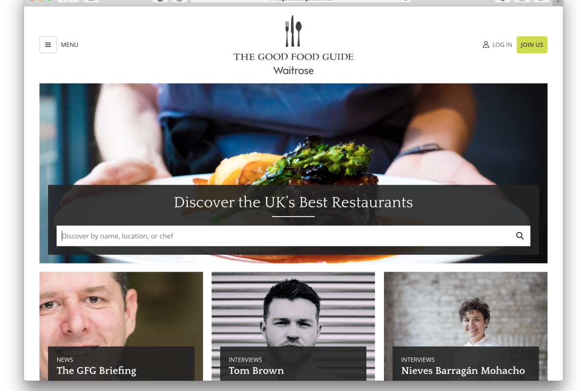 A better way to discover the UK's best restaurants