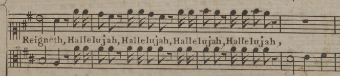 """Detail of Messiah an oratorio in score as it was originally perform'd, ca. 1769"