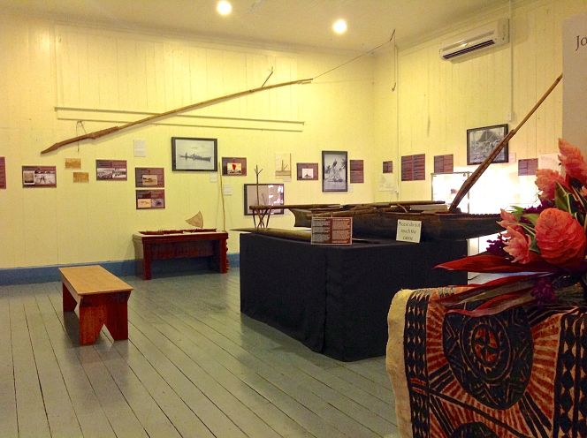 One of the galleries at the Museum of Samoa in Apia displaying photographs sourced from the Turnbull's photographic archive.