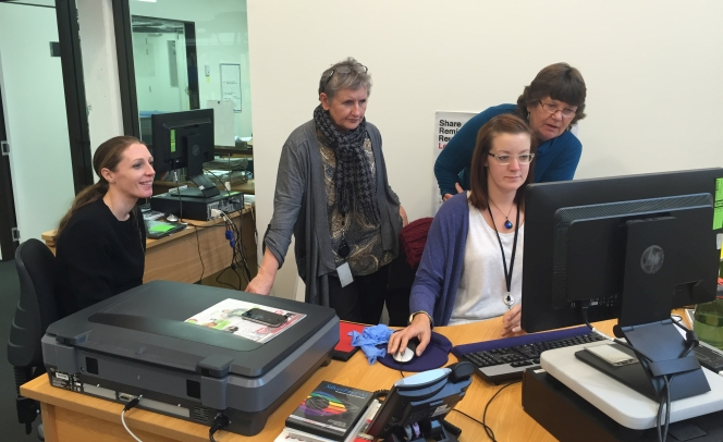 MTG Hawke's Bay Collections Team working on a born digital collection during a training.