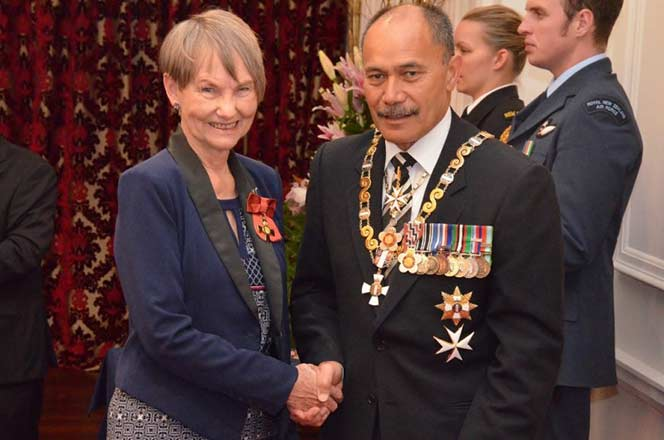 Fleur Beale and Governor-General, Sir Jerry Mateparae.