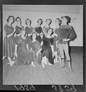 Group of female ballet dancers.