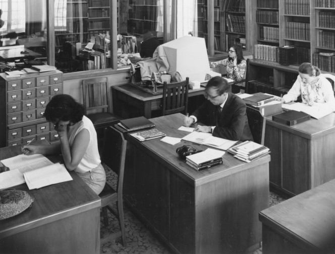 Alexander Turnbull Library Reading Room, 1972.