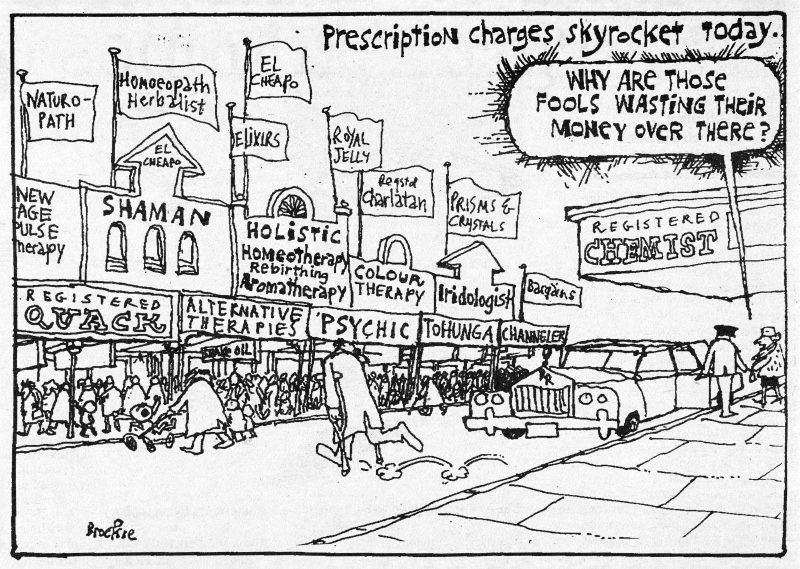Bob Brockie, Prescription charges skyrocket today, NBR, 1 February 1991