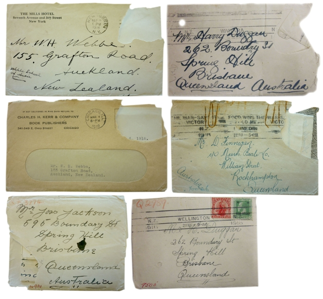 Censorship of correspondence, 'Secret Registry: Confidential Series'. AD10, Archives New Zealand.