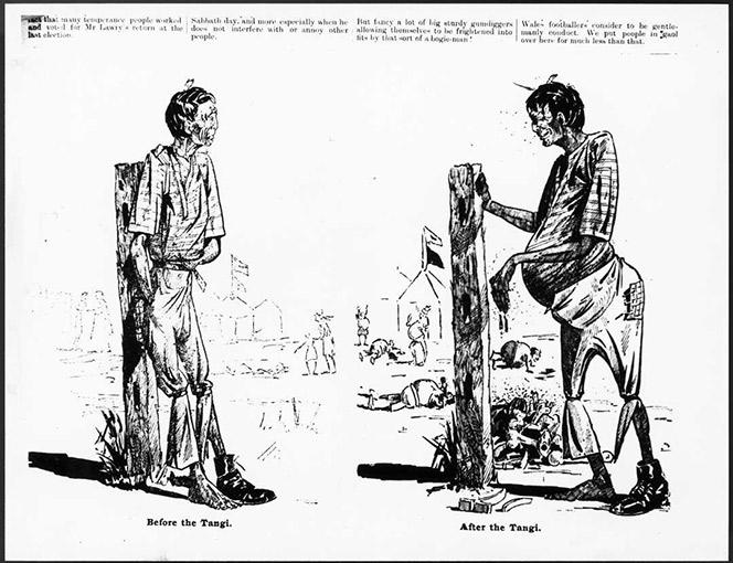 Cartoon Before The Tangi After The Tangi.