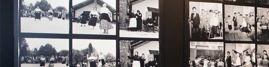 Ans Westra contact sheets, women dancing, children singing.
