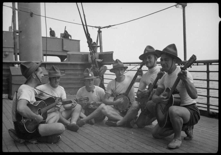 Members of troopship orchestra, ca 1940
