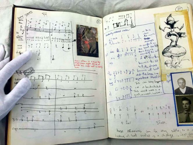 Pages from a music workbook.