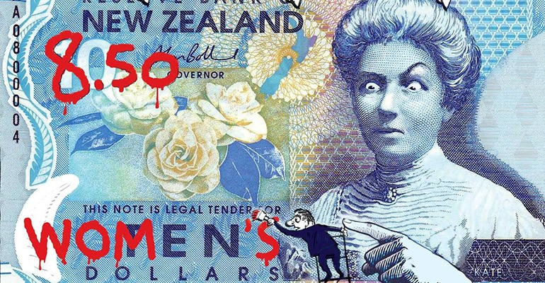 Kate Shepperd, on the NZ $10 note, reacting to Bill English's pay inequality efforts.