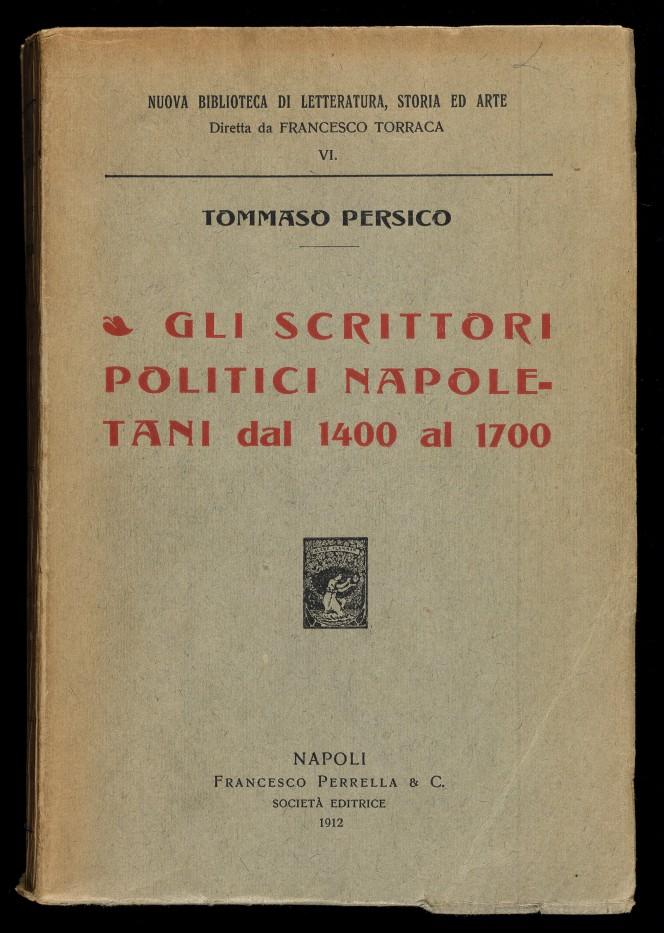 Cover of Tommaso Persico's Gli Scrittori Politici Napoletani.