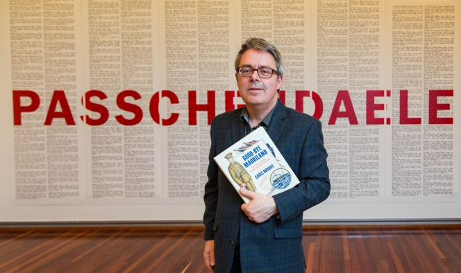 Good-bye Maoriland author Chris Bourke in the 'Passchendaele' exhibition.
