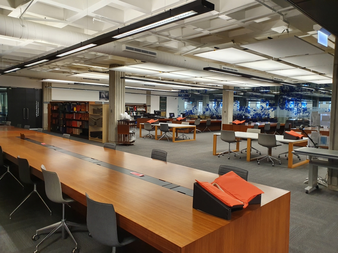 A view of inside the Katherine Mansfield reading room at the Alexander Turnbull Library