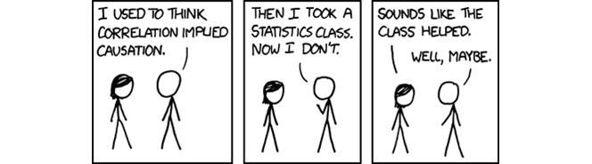Cartoon showing two figures talking.