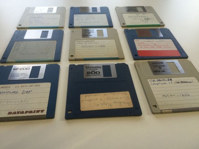 Some classic 3.5 inch floppy disks.