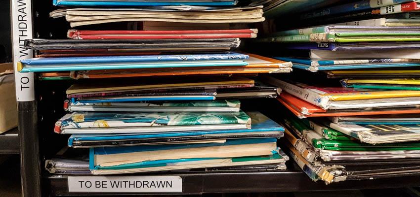 Withdrawn books.