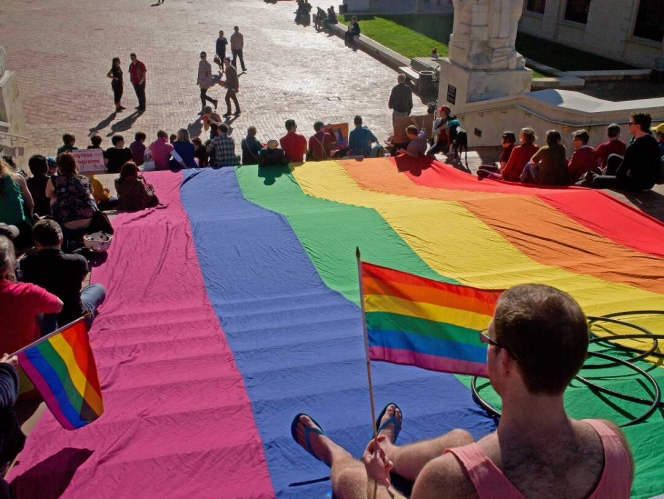 Scenes from the International Day of Solidarity for Global Queer Equality
