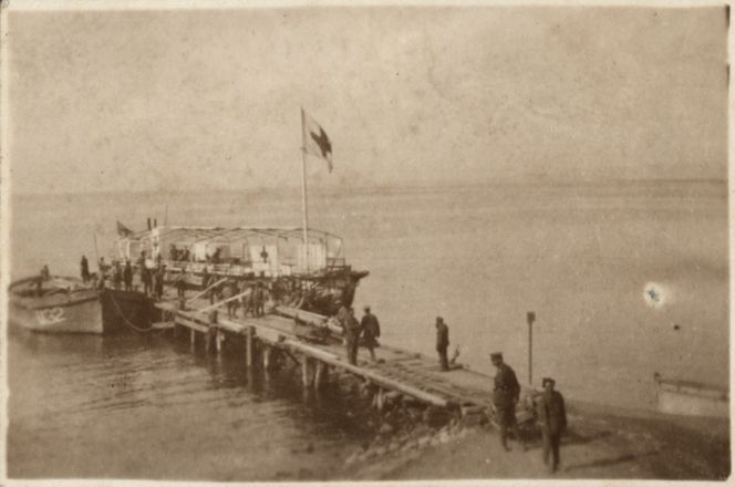 William's Pier, Walker's Ridge. It was from this jetty that the majority of men embarked at the evacuation.