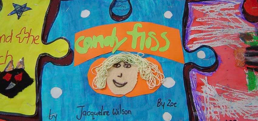 Jigsaw artwork response to children's literature.