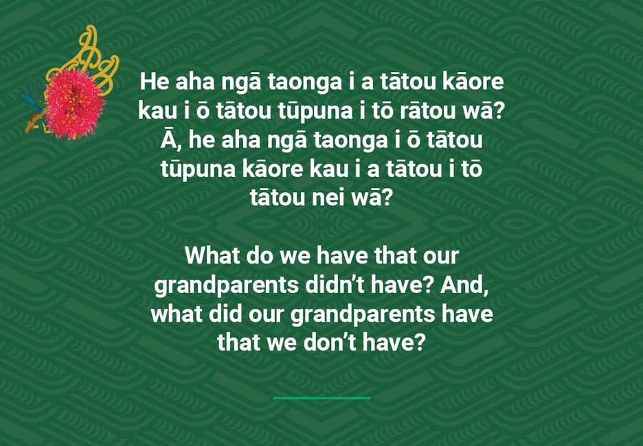 What do we have that our grandparents didn't have? And, what did our grandparents have that we don't have?  [Our grandparents](/files/schools/hm39-our-grandparents-english.mp3)