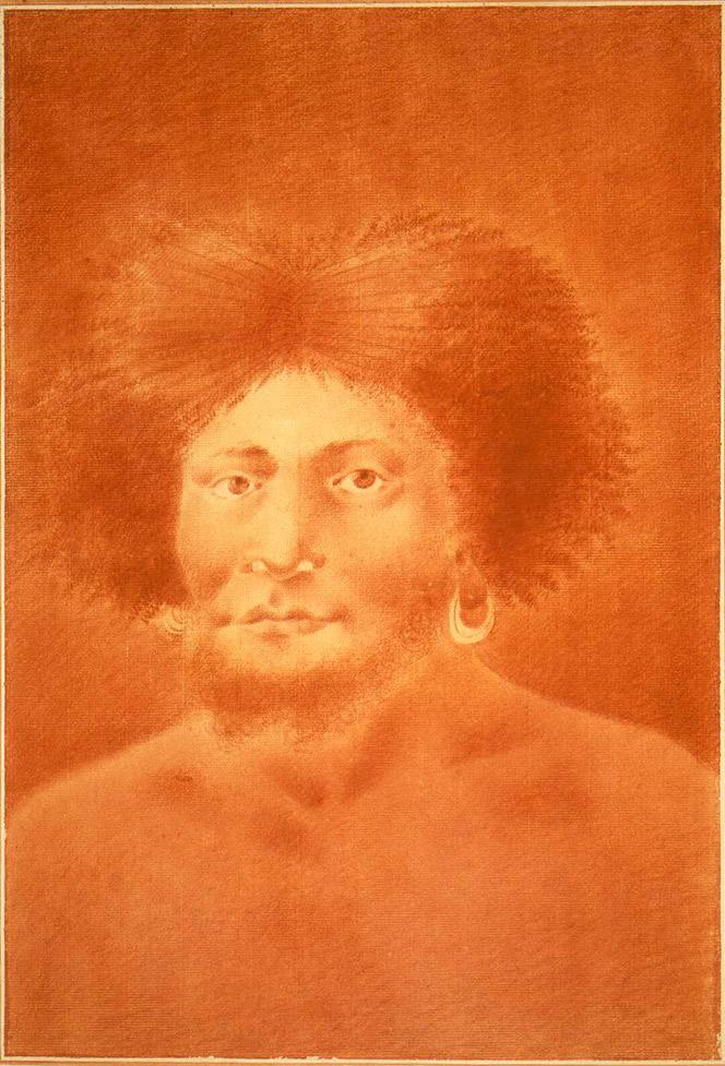 Head and shoulders portrait of a man of Tanna in Vanuatu.