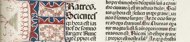 Detail of Postilla Guillermi Super epistolas et euangelia, 1483