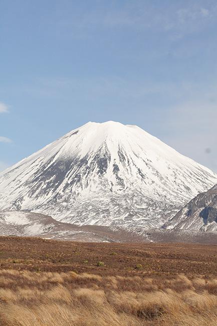 A photograph of Ngāuruhoe covered in snow.  [Maunga](/files/schools/hm18-maunga-english.mp3)
