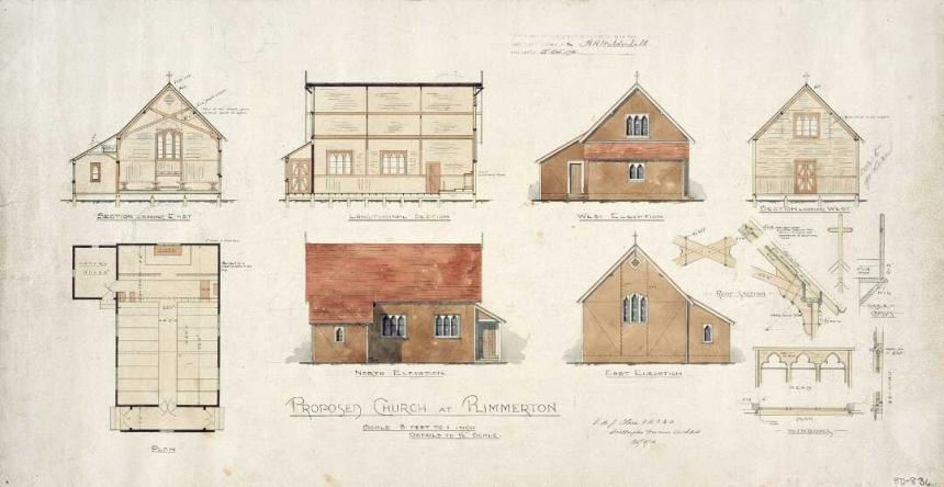Plan of proposed church at Plimmerton