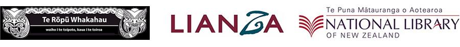 Logos for Te Rōpū Whakahau, LIANZA and NLNZ.