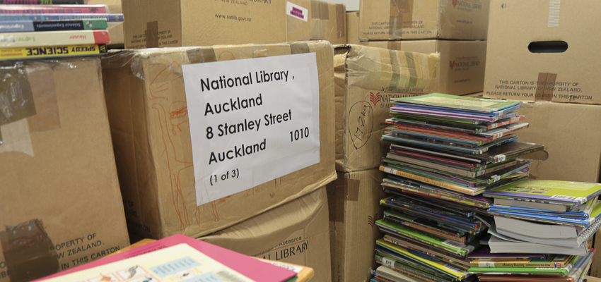 School loans and books returned to National Library Services to Schools.