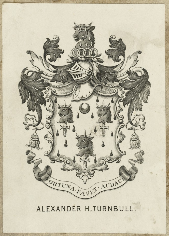 Bookplate of Alexander H. Turnbull