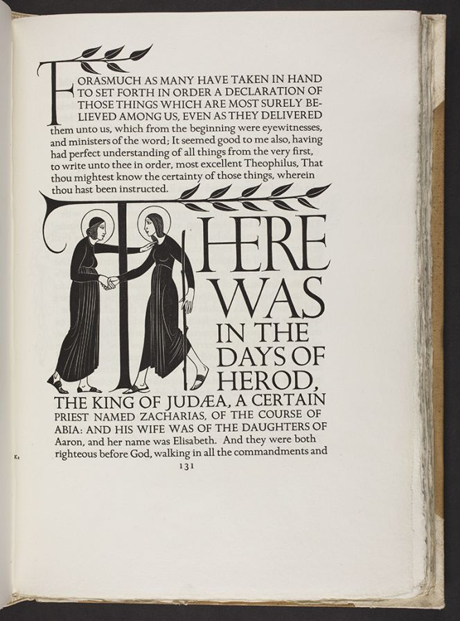 The Bible printed by the Golden Cockerel Press in 1931.