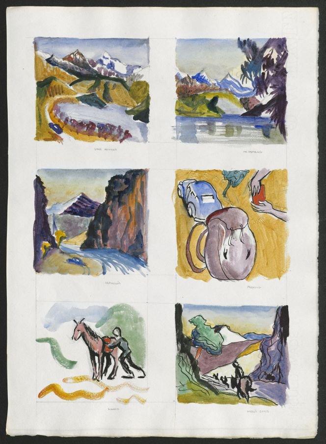 Lake Wanaka. Mt Aspiring. Aspinall's. Packing. Horses. Hell's Gates,1949.