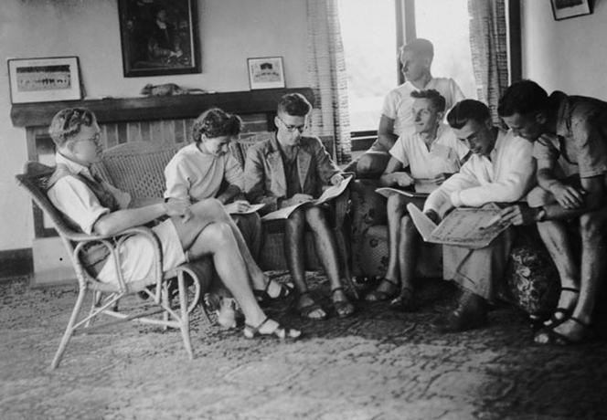 Composers' class, Cambridge Summer School of Music.