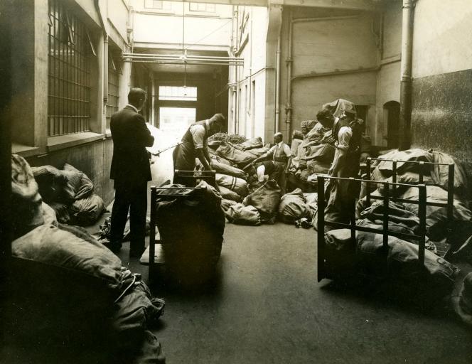 Chief Post Office Mailroom, Wellington 1920.