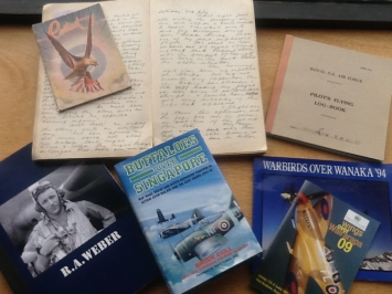 Published books relating to Flying Officer Rex Weber collection of diaries and letters.