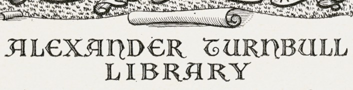 Detail of Alexander Turnbull Library Bookplate, 1951, Reginald George James Berry