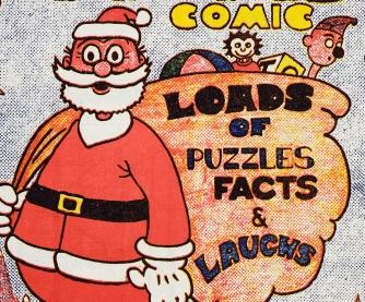 Comic of Santa Claus.