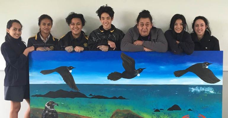 Members of the kura kaupapa Māori.