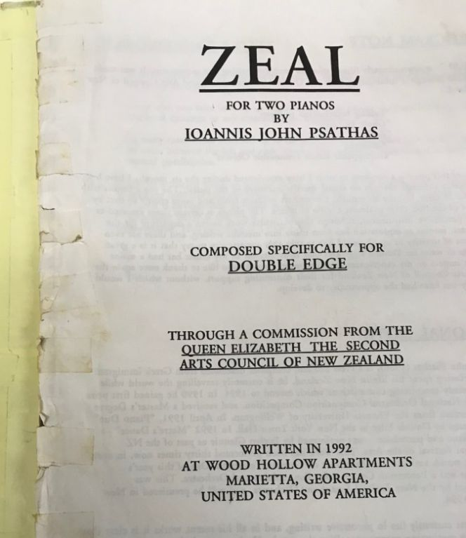 Three volumes of printed scores with manuscript annotations for Zeal.